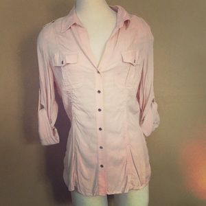 Ruched Button Up